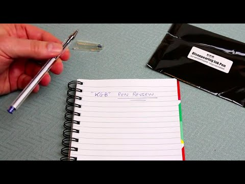 KGB Disappearing Ink Pen - Detailed Review + Demo examples and Ideas how to use