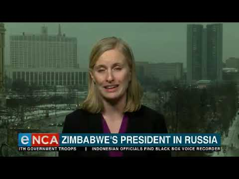Zimbabwe president in Russia