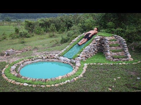 Build Water Slide and Stone Swimming Pool Underground - Thời lượng: 16 phút.