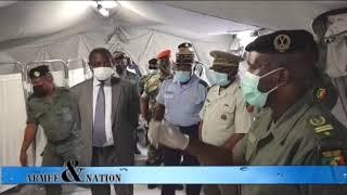 Viste de l\'hôpital militaire de compagne par ministre de la défense nationale