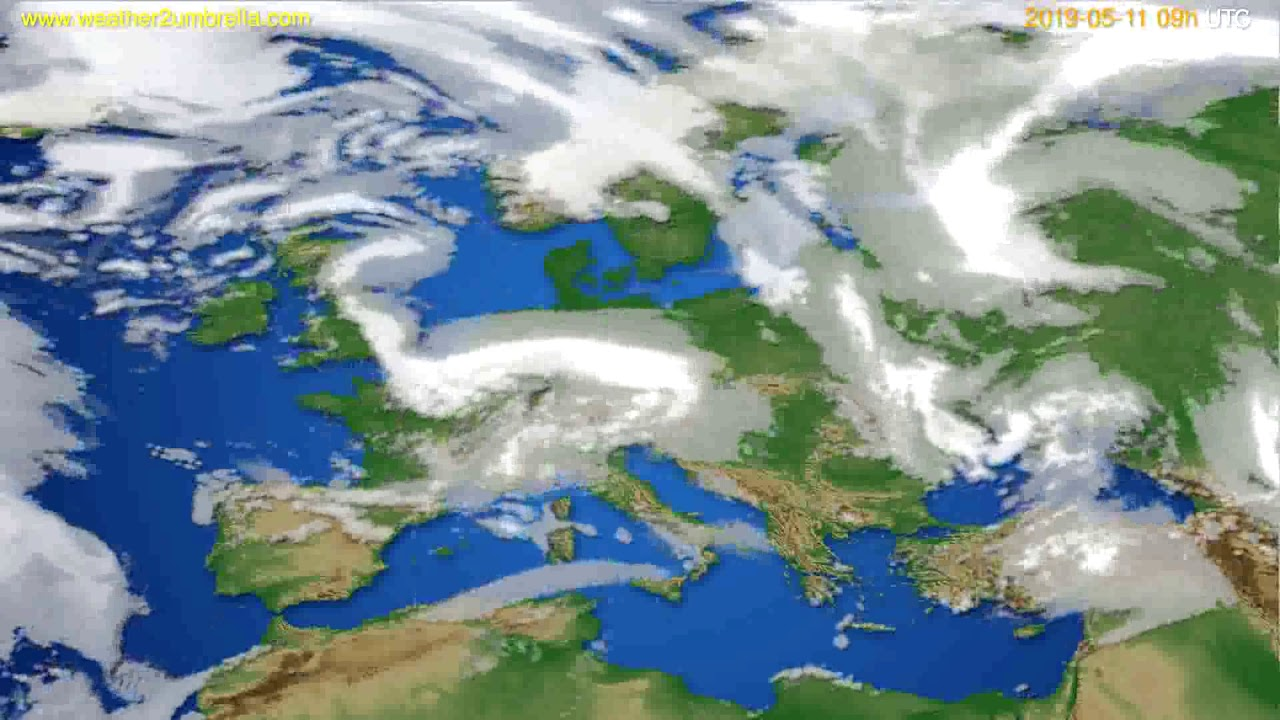 Cloud forecast Europe // modelrun: 12h UTC 2019-05-09