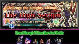 Learn how to defeat Grand Seraph Ultima while surviving those 10 rounds. No die mission is quite hard to complete, if you fight 2 ultima demons. My suggestion is to try for 11 turns challenge first, if you fail then simply re-enter the battle and kill it below 11 turns.Thanks for watching, please hit the like button and subscribe to my channel for more ff be guides.