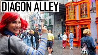 Diagon Alley Harry Potter Vlog w/ Brizzy Voices + Christine Riccio