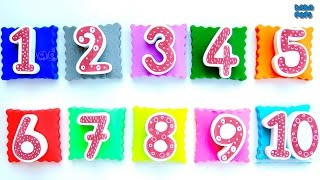 Learning Numbers 1 to 10 with Play Doh Play Doh lilac - number 1 Play Doh bright green - number 2 Play Doh pink - number 3 Play Doh beige - number 4 Play Doh turquoise- number 5 Play Doh pink - number 6 Play Doh white - number 7 Play Doh orange - number 8 Play Doh blue - number 9 Play Doh yellow - number 10Click to Subscribe to Dada Pups https://www.youtube.com/channel/UC1Sir-iKkghO5SSguzYC2lgSee other interesting videos:https://www.youtube.com/channel/UC1Sir-iKkghO5SSguzYC2lg/videos