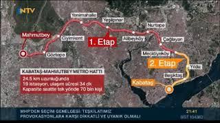 NTV - BAĞCILAR MAHMUTBEY-MECİDİYEKÖY METRO HATTI TEST SÜRÜŞÜ YAPILDI