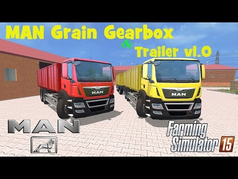 MAN Grain Gearbox & Trailer v1.0