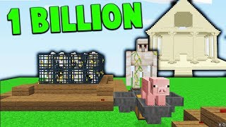 1 Billion Dollar Skyblock Island! | Minecraft SKYBLOCK