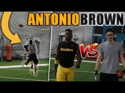 1 V 1 FOOTBALL VS NFL SUPERSTAR ANTONIO BROWN!! I PICKED HIM OFF!! (видео)