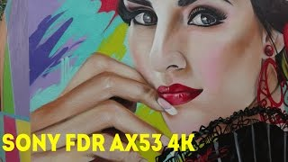 Sony FDR AX53 4K ULTRA HD test video footage, original sound - Live in Malaga, Spain