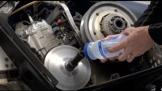 4. Snowmobile clutch removal, water method - very easy!  PowerModz!