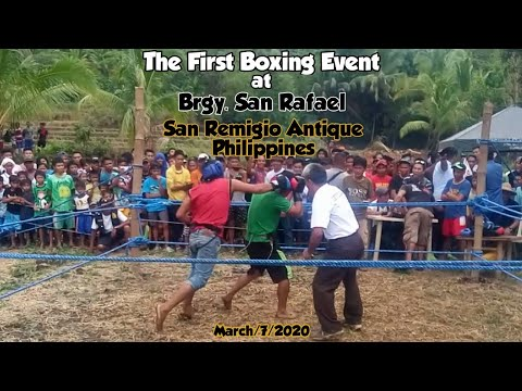 Funny Boxing Match Up At San Rafael, San Remigio Antique Philippines