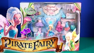 Disney Official Pirate Fairies Periwinkle Doll Crystal Boutique Costume Wardrobe Set.  This play-set comes with Periwinkle Doll, 7 Fashions, 1 Pair of Wings, 5 Pairs of Shoes, 4 Purses, and 1 Ring Hat.Music By Kevin Macleod (Monkeys Spinning Monkeys)