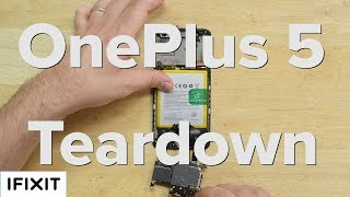 Had enough teardowns for one week? Well too bad, we've got one more for you. Today we tore down the OnePlus 5. It's been two years since we had the OnePlus 2 on our teardown table, and it scored a respectable 7 out of 10 on out repairability scale. Hopefully, the new OnePlus 5 can keep up in this teardown. If you havn't seen it check out the OnePlus 2 Teardown!https://www.youtube.com/watch?v=pusyMbsQgq0Get a Pro Tech Toolkit and take apart everything you own.https://www.ifixit.com/Store/Parts/Pro-Tech-Toolkit/IF145-307-1?utm_source=OnePlus5TD&utm_medium=description&utm_campaign=YouTubeSubscribe to our channel for all our latest teardown and repair videos!https://www.youtube.com/subscription_center?add_user=ifixityourselfFollow us on Twitter: https://twitter.com/ifixitCheck us out on Facebook: https://www.facebook.com/iFixit