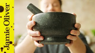 Making Pesto in a Pestle and Mortar | Jamie Oliver by Jamie Oliver