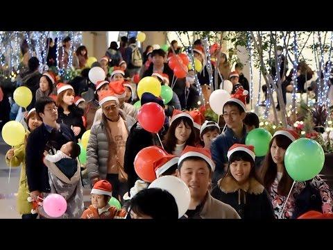 光のサンタパレード 神戸で400人