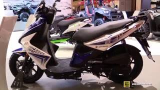 9. 2016 Kymco Super 8 50cc 2T Scooter - Walkaround - 2015 Salon de la Moto Paris