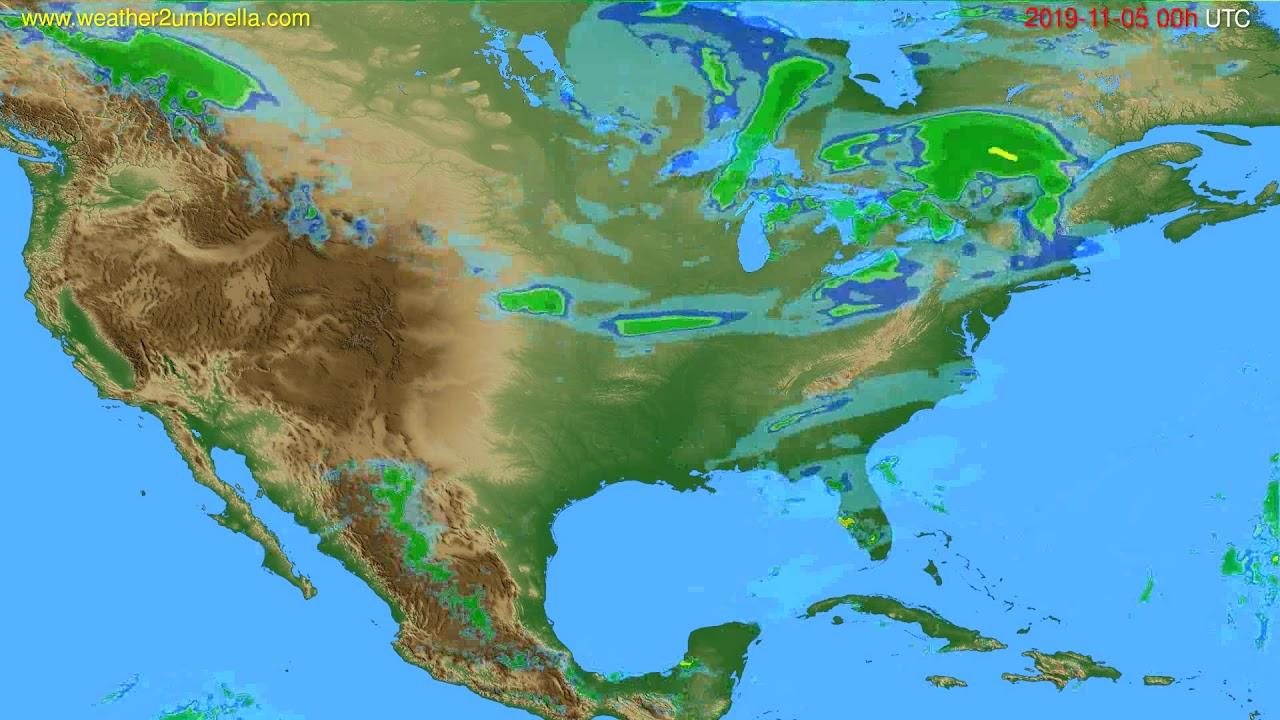 Radar forecast USA & Canada // modelrun: 12h UTC 2019-11-04