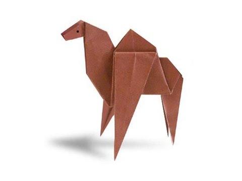 Как сделать верблюда из бумаги оригами