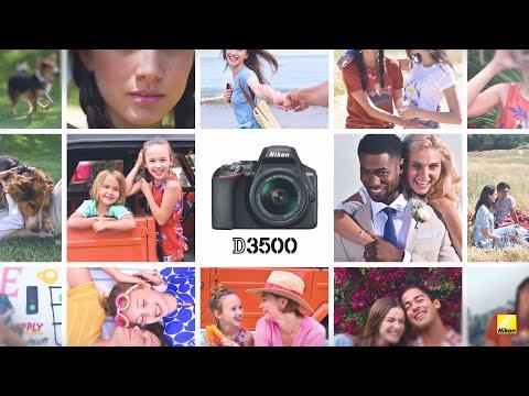 Nikon D3500 DSLR fotoaparát, kit (18-55mm VR AF-P objektivem)