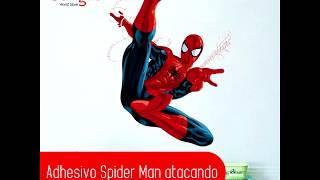 Adhesivo Spiderman atacando