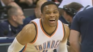 Russell Westbrook 2nd Quarter Triple Double! Oladipo Through Legs Pass! Clippers vs Thunder