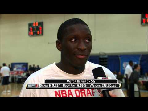 Victor Olapido at the NBA Draft Combine 2013_Kosrlabda legjobb videk. Sport of USA