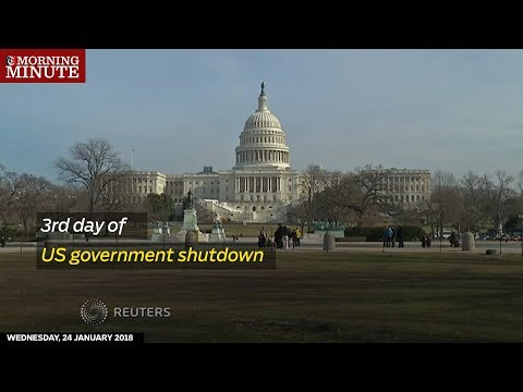 A U.S. government shutdown enters its third day after Senate negotiators fail to reach an agreement to restore federal spending authority.