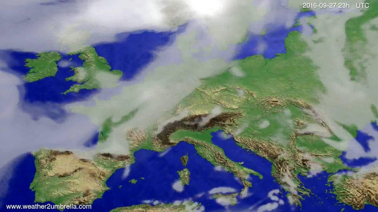 Cloud forecast Europe 2016-09-24