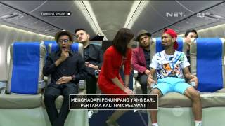 Video Desta dan Vincent Kedatangan Pramugrari Cantik dari Air Asia - Tonight Show MP3, 3GP, MP4, WEBM, AVI, FLV November 2017