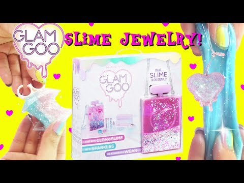 D.I.Y. Slime Jewelry GLAM GOO Slime Kits Haul Glitter Mermaid Slime