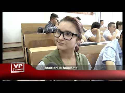 Înscrieri la facultate