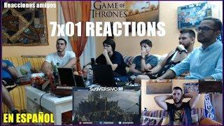 GAME OF THRONES 7x01 STONEDRAGON REACTIONS!!!!