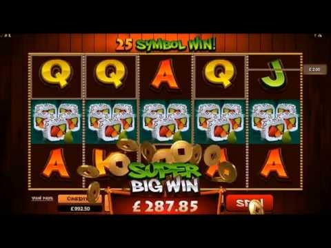 So Much Sushi Video Slot Game Casino Microgaming