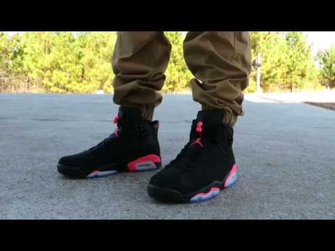 AIR JORDAN RETRO 6 'BLACK INFRARED' ON FEET!!!