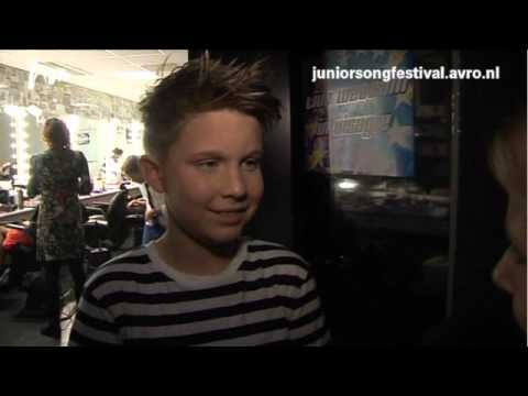 Junior Songfestival 2012 - Interview Melle - finaledag