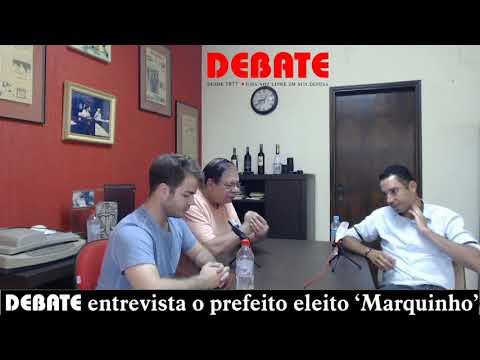 DEBATE entrevista o prefeito Marco Aurélio Pinheiro, o 'Marquinho'