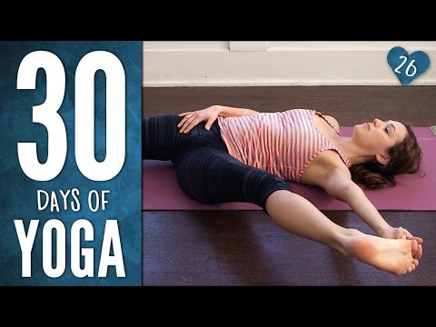 yoga - Join Adriene on Day 26 of The 30 Days of Yoga journey! Earth Practice. Say whaaa? In this practice we use the earth to connect, ground, stretch and lift from. We learn another pranayama or...