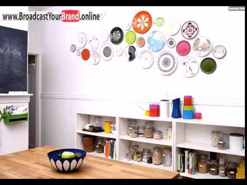 Wanddeko Mit Tellern Ideen Küche Gewürzregale