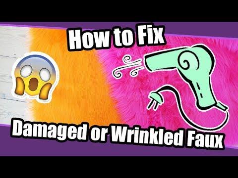 //Tutorial #35// Fix Damaged or Wrinkled Faux Fur