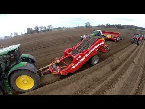 planting - Planting Potatoes in East Lothian April 2014 1 x 3bed bedtiller, 3 x de-stoners, 1 x 6 row planter. filmed using a phantom 2 and a go pro camera on a slight ...