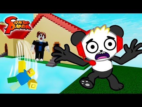TRAPPED IN A HOUSE IN ROBLOX! Horrific Housing Roblox Let's Play with Combo Panda