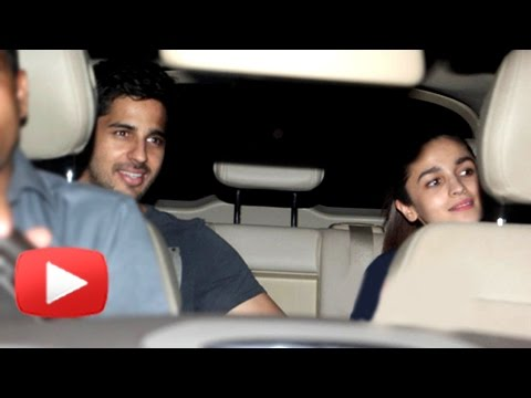 Sidharth Malhotra And Alia Bhatt Arrive Together A