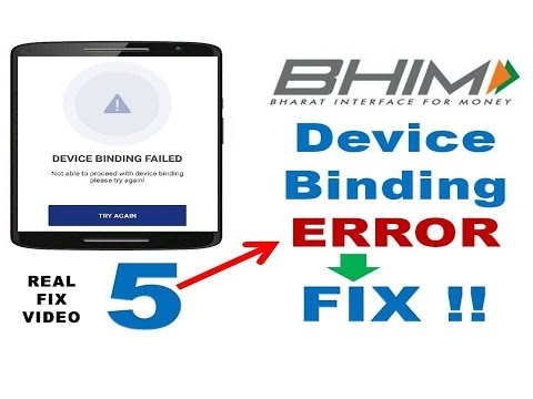 Bhim App Device Binding Failed Error Fix | Transaction Declined Error Fix| Bhim App Not Working