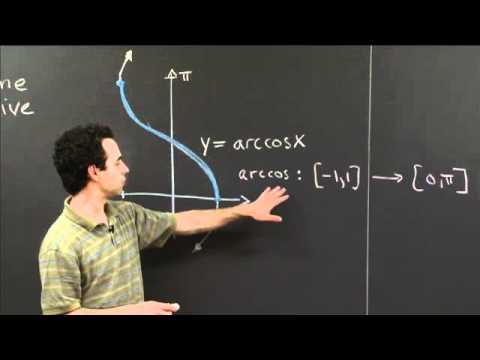 Arccos   MIT 18.01SC Single Variable Calculus, Fall 2010