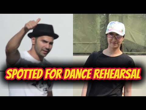 Varun Dhawan & Shraddha Kapoor Spotted For Dance Rehearsal At House Of Dance Versova
