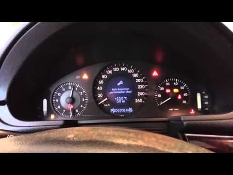Mercedes W211 reset service with Star Diagnosis Xentry Das