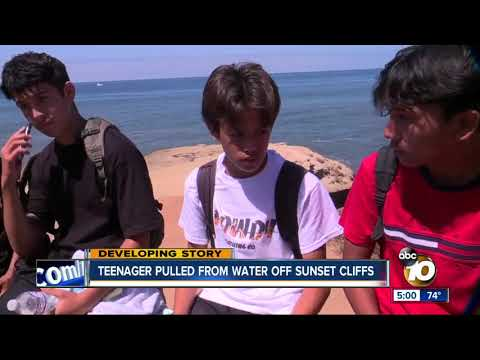 Teenager pulled from water off Sunset Cliff