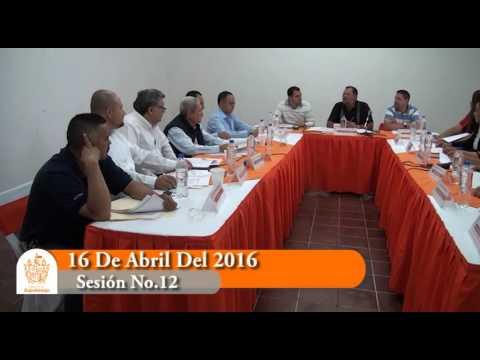 Sesión Ordinaria No. 12 de Ayuntamiento 16 de abril de 2016