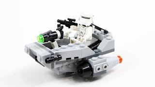 LEGO Star Wars Microfighter First Order Snowspeeder (Timelapse & Review) - Set 75126