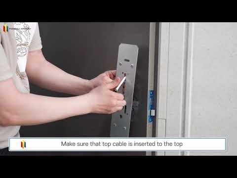 Electronic smart door lock BABA 8201 fingerprint digital door lock